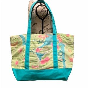 Lilly Pulitzer Via Lilly Canvas Tote Bag